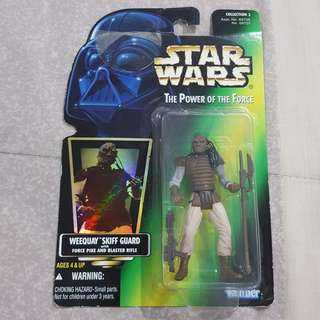 Legit Brand New Sealed Kenner Star Wars Weequay Skiff Guard With Force Pike And Blaster Rifle Toy Figure