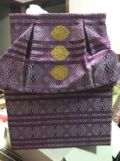 Money box songket perfect for wedding!