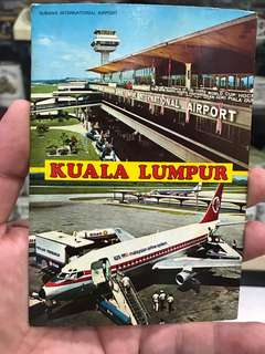 Vintage Subang International Airport Postcard