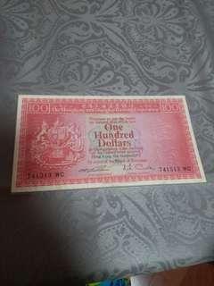 1972年滙豐銀行100圓
