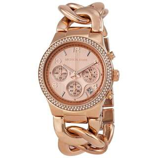 CHRONOGRAPH ROSE DIAL ROSE GOLD ION-PLATED LADIES WATCH MK3247