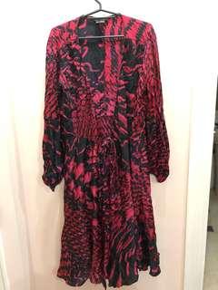Zara Silk robe dress - medium