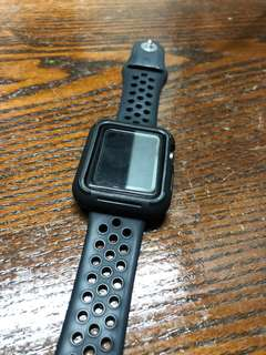 Apple Watch 3 Protective Case & Sports Strap - 42 mm (Black)