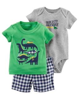 Carter's 3 Piece dinosaur set