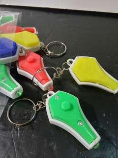 紫外線小燈一包42個 驗鈔燈 UV膠照燈 藍燈匙鑰扣 UV detection keychain light
