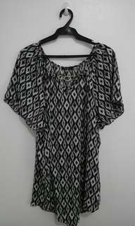 Printed Blouse Plus Size