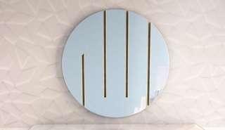 """Minimalist """"Allah"""" on mirror"""