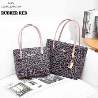 Bonia Tote Bags 2 in 1 Rubber Red Color
