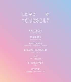 (NON PROFIT GROUP ORDER) BTS LOVE YOURSELF ANSWER