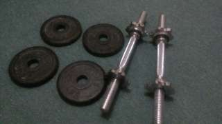 Original (2.5 Lbs )Dumbell Plates and Stainless Handle Bars