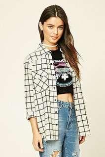 Snap-Button Tartan Plaid Shirt