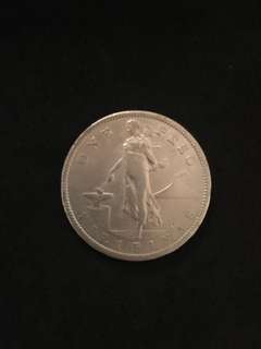 1908 S Philippines 1 Peso coin (US Sovereignty)