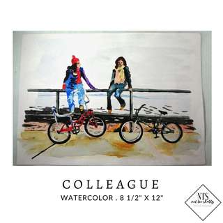 """Watercolor Painting - """"Colleague"""""""