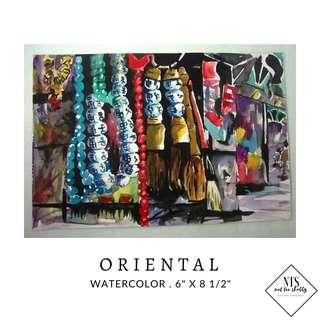 "Watercolor - ""Oriental"""