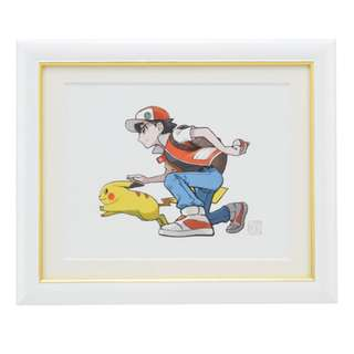[PO] LARGE PHOTO FRAME COLLECTIBLE ART [RED & PIKACHU] - POKEMON CENTER EXCLUSIVE