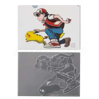 [PO] A4 CLEAR FILE [RED & PIKACHU] - POKEMON CENTER EXCLUSIVE
