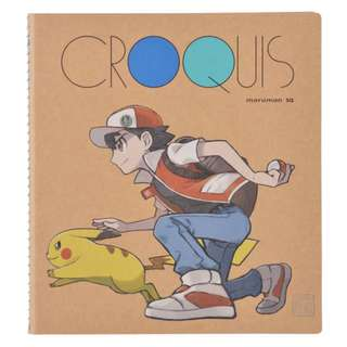 [PO] CROQUIS SKETCHBOOK [RED & PIKACHU] - POKEMON CENTER EXCLUSIVE