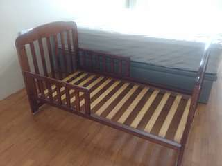 Solid wood baby crib