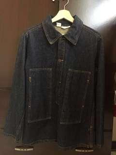 🚚 Us army 70s  vintage 美製丹寧半罩軍裝襯衫