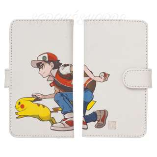 [PO] UNIVERSAL FLIP PHONE CASE [RED & PIKACHU] - POKEMON CENTER EXCLUSIVE
