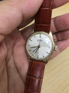 古董陰陽面窩路堅鬧錶 Vulcain Sensilarm with chevron dial