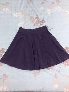 🚚 H&M深藍色傘裙/短裙