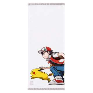 [PO] FACE TOWEL [RED & PIKACHU] - POKEMON CENTER EXCLUSIVE