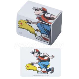 [PO] TCG DECK CASE WITH DIVIDER [RED & PIKACHU] - POKEMON CENTER EXCLUSIVE