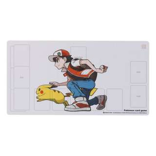 [PO] TCG RUBBER PLAYMAT [RED & PIKACHU] - POKEMON CENTER EXCLUSIVE