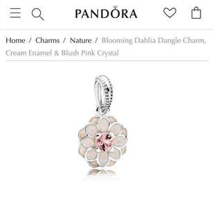 SALE❤️ PANDORA BLOOMING DAHLIA DANGLE CHARM