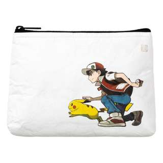 [PO] FLAT POUCH [RED & PIKACHU] - POKEMON CENTER EXCLUSIVE