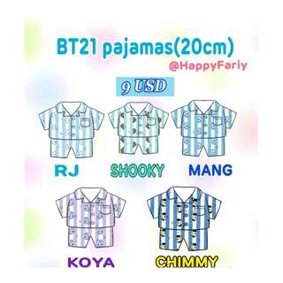 BTS - BT21 Pajamas for 20cm doll