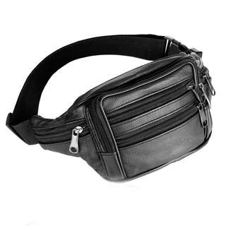 Waist bag genuine leather
