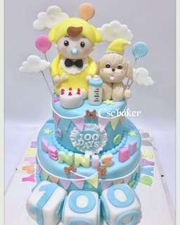立體蛋糕 3Dcake 百日宴蛋糕 忌廉蛋糕 生日蛋糕 滿月蛋糕 bb蛋糕 狗bb蛋糕 bb鞋蛋糕 狗年蛋糕