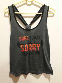 🚚 Cotton graphic sports tank top