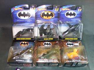 Hot Wheels Tim Burton Movie Batman 1989 & Batman Returns DC Diecast 1:50 Scale