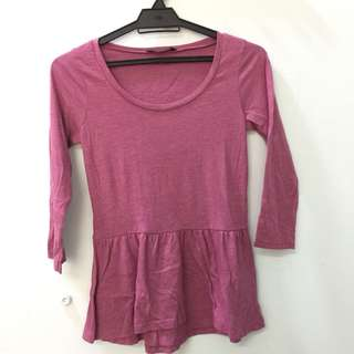 Peplum Top (Pink)