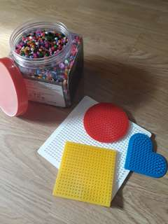 Pyssla beads + boards from Ikea