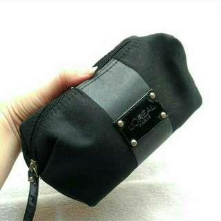 Makeup pouch black