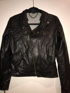 BILLABONG FAUX LEATHER JACKET
