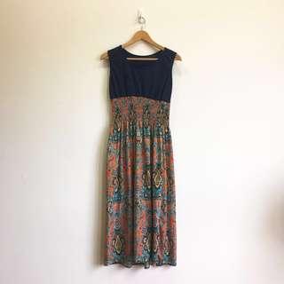 🚚 [ 度假風長洋裝]二手保存良好 便宜出售 #女裝半價拉