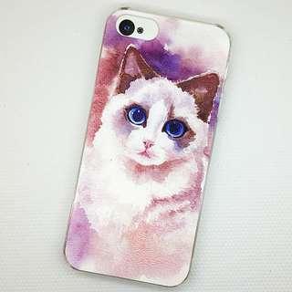 Apple iphone 6s、 6s plus 可愛貓咪 貓美人 3D立體卡通浮雕 超薄透明邊 彩繪手機殼 特價$50