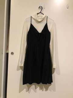 H&M BLACK RIBBON DRESS