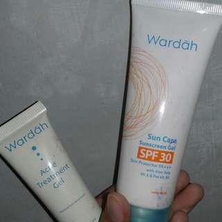 Sunscreen dan acne treatment wardah