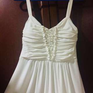 Long White Dress (price can nego) #july70