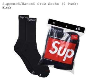 Supreme/ Hanes Crew socks
