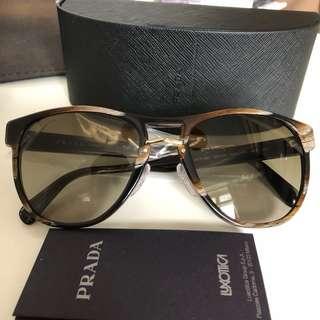 Prada 琥珀紋男裝太陽眼鏡 (全新)