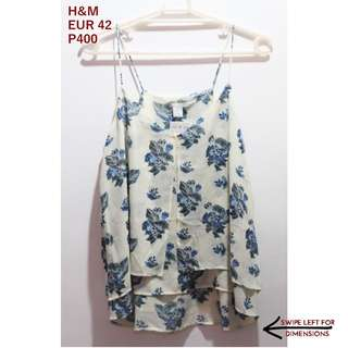 H&M Layered Floral Sleeveless Top