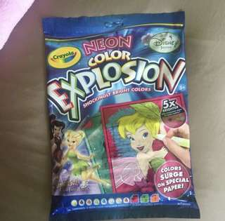 🚚 crayola twinkle bell neon explosion mess free colour
