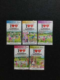 2000 World Heart Day 5V Used Set